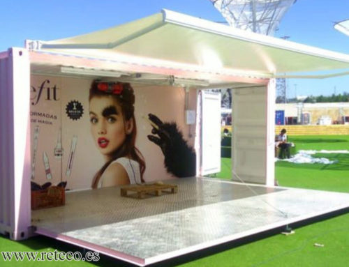 Sell containers for commercial use or for events, folding